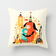 Woombi & Loondy Throw Pillow