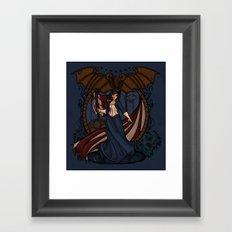 Elizabeth Nouveau Framed Art Print