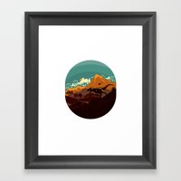 Jurassic Escape Framed Art Print