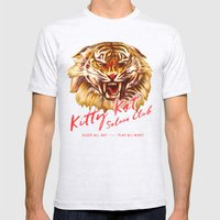 Kitty Kat Saloon Club - Charcoal Mens Fitted Tee Ash Grey SMALL