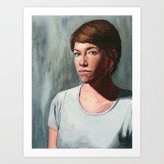 She Who Stares Art Print
