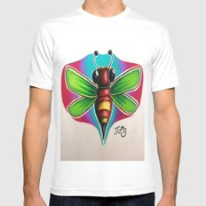 Bee Bumble Mens Fitted Tee White SMALL