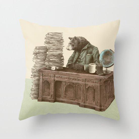 Bearocrat Throw Pillow