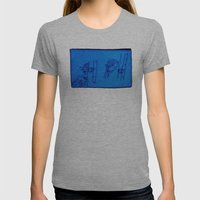 Reading Lady X 2 (edit 1… Womens Fitted Tee Athletic Grey SMALL