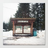 Slocan City Bus Stop Canvas Print