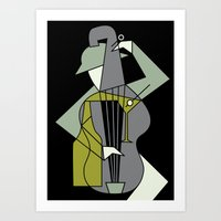 Art Prints featuring Music&alcohol by FLATOWL
