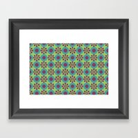 Retro Modern Flower Powe… Framed Art Print