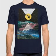 Man On The Moon Mens Fitted Tee Navy SMALL