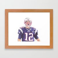 Tom Brady Ballpoint Pen … Framed Art Print