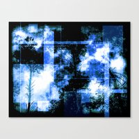 forest memories Abstract light blue Fire Canvas Print
