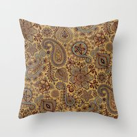 Cosmic Paisley Henna Throw Pillow
