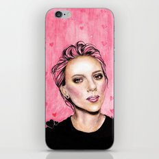 pink hearts iPhone & iPod Skin