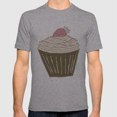 Cupcakes Curly Mens Fitted Tee Athletic Grey SMALL