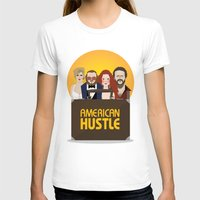 movie poster T-shirts featuring American Hustle Movie Poster by Gary  Ralphs Illustrations
