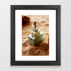Little Boat Framed Art Print