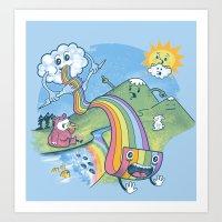 Rainbow Pasta Art Print