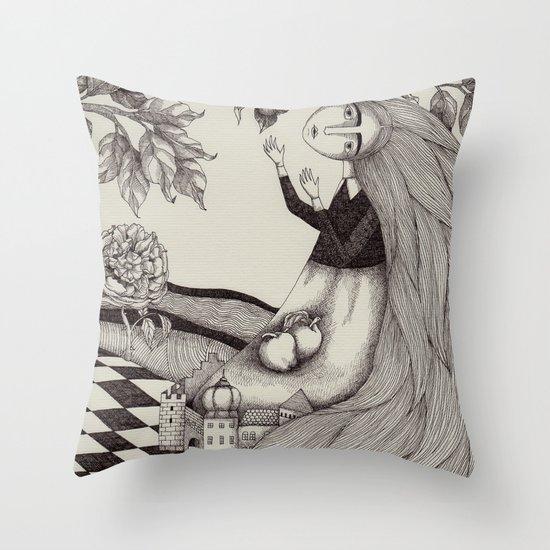The Golden Apples (2) Throw Pillow