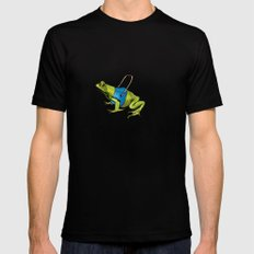 Seeing Eye Frog Mens Fitted Tee Black SMALL