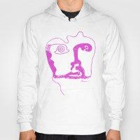 Swirl Face Line Art Hoody
