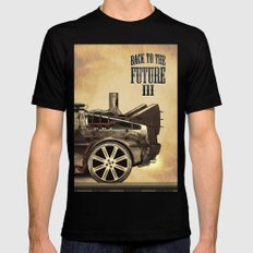 Back to the future III SMALL Mens Fitted Tee Black