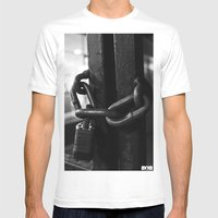 Trapped Mind Mens Fitted Tee White SMALL