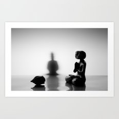 Death meditating Art Print