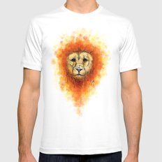 Gesture Lion with Mane SMALL White Mens Fitted Tee