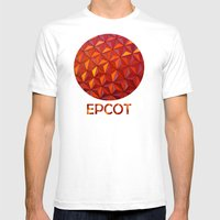 Geometric Epcot Mens Fitted Tee White SMALL