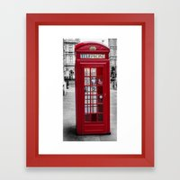 The Iconic London Phoneb… Framed Art Print