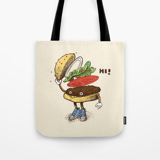 Burger Greeting Tote Bag
