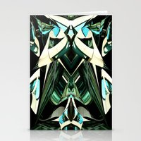 Green Warp Stationery Cards