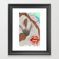 oh dear Framed Art Print