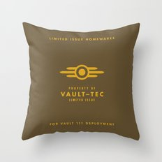 Fallout 4 Vault-Tec Throw Pillow