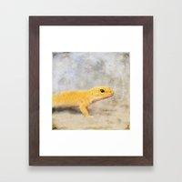 Portrait Of A Leopard Ge… Framed Art Print