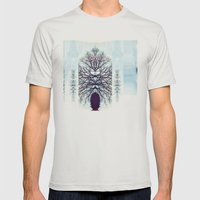 SymmeTREE Mens Fitted Tee Silver SMALL
