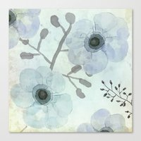 Anemone Blue Canvas Print