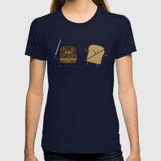 Slice! Womens Fitted Tee Navy SMALL