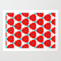 Herweije Retro Flower Pattern Art Print