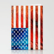 American Flag Art - Old … Stationery Cards