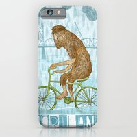 iPhone & iPod Case featuring Dirty Wet Bigfoot Hipster by Santiago Uceda