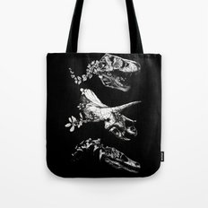 Jurassic Bloom - Black version. Tote Bag