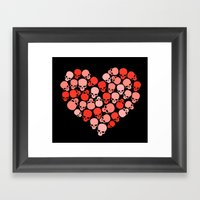 SKULL HEART FOR VALENTIN… Framed Art Print