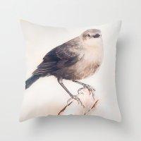 Little Capitola Bird Throw Pillow