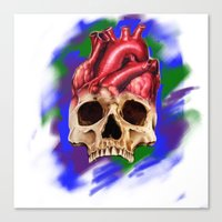 Think With Your Heart Canvas Print