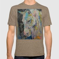 Hidden Heart Horse Mens Fitted Tee Tri-Coffee SMALL