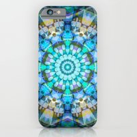iPhone & iPod Case featuring Into the Blue Kaleidoscope by Art, Love & Joy Designs