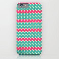 Blue & Pink Geometric Zig-Zag Pattern iPhone 6 Slim Case