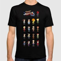 Super Street Fighter II Turbo Mens Fitted Tee Black SMALL