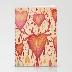 Hearts In Love Stationery Cards