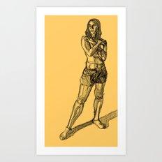 Figure-Crosshatch Art Print
